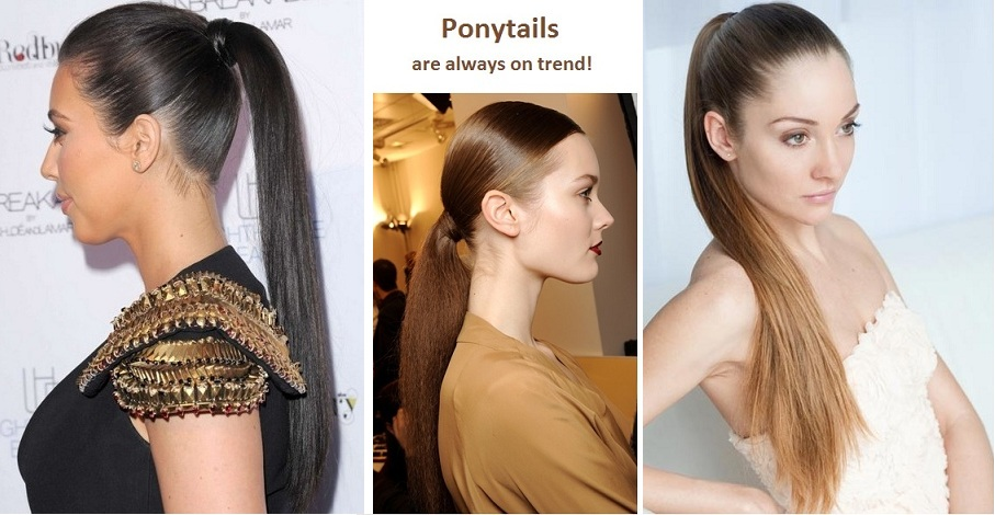 Ponytails are always on trend